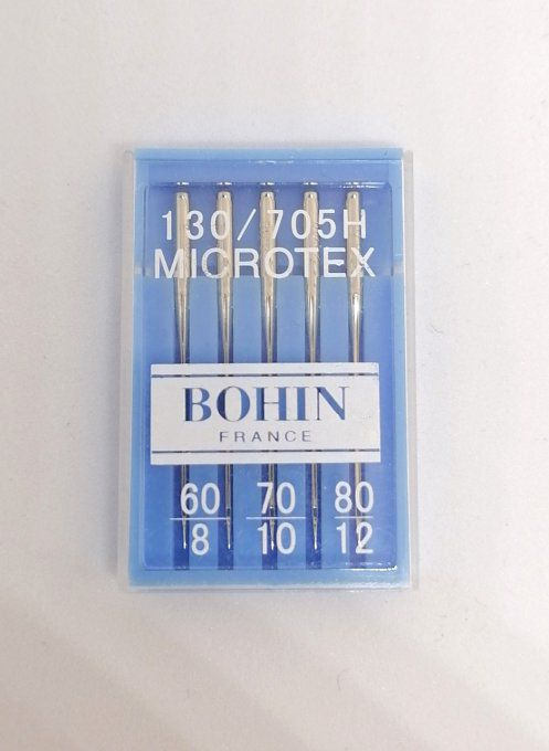 Aiguille microtex  bohin lot de 5